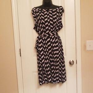 Black & White Dress With Matching Belt